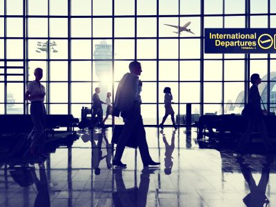 International Departtures Terminal Business Travel Transportation Flight Concept