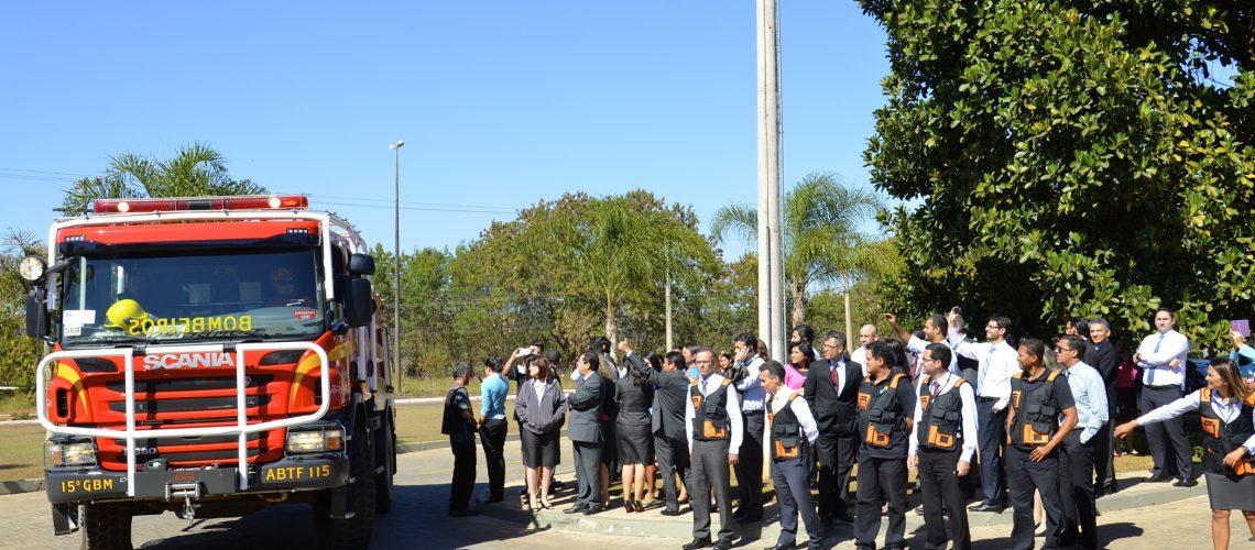 Funcionários da sede administrativa da Igreja Adventista participam de simulação de incêndio